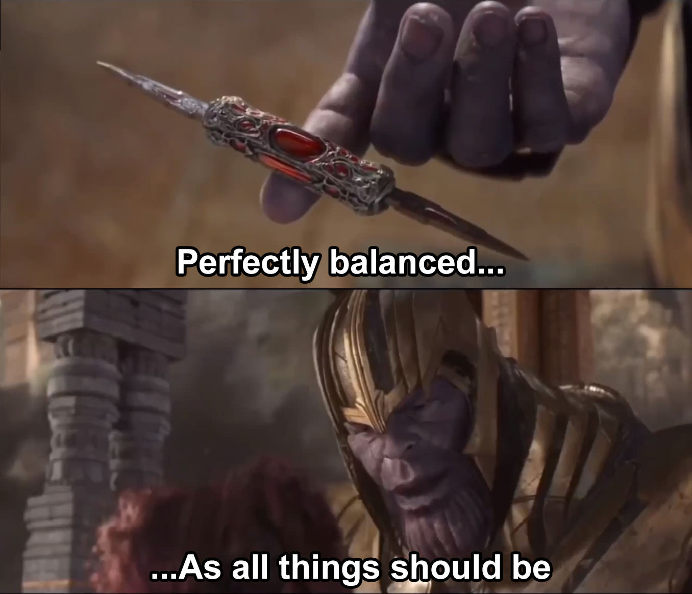 Image result for thanos meme template