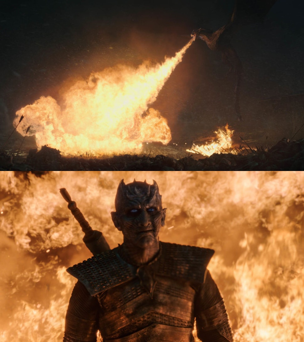 Night King vs. Drogon Meme Template