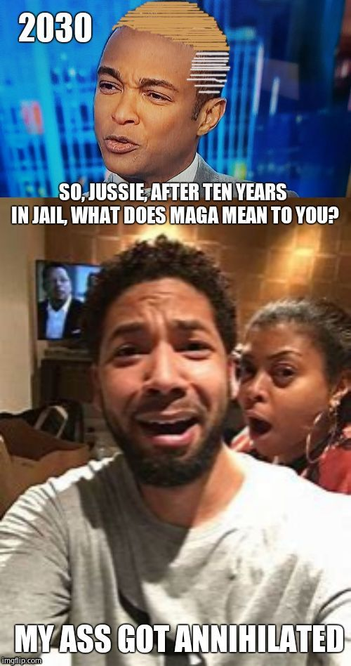 2030 | image tagged in jussie smollett,don lemon,cnn,scumbags | made w/ Imgflip meme maker