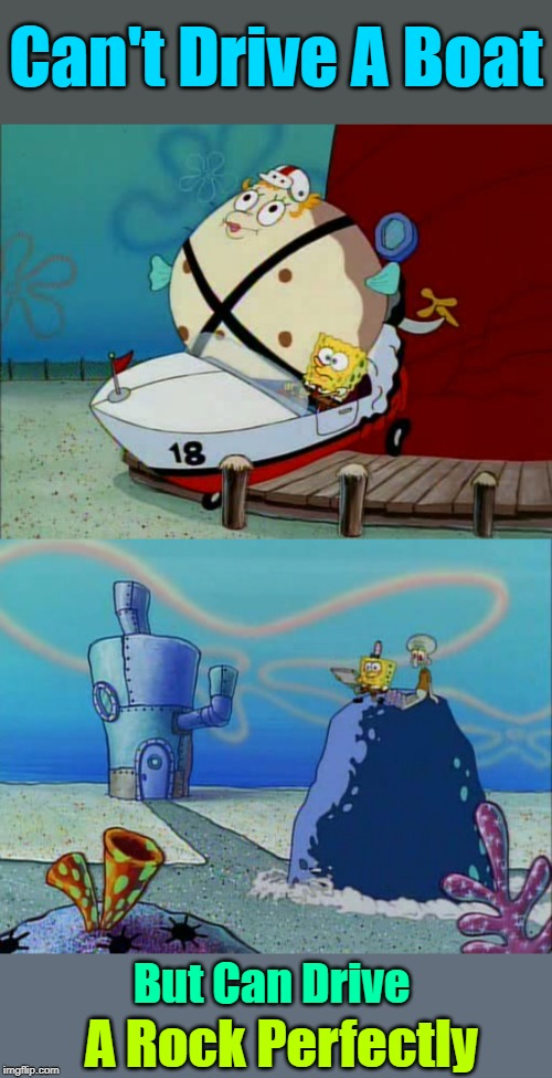 "In A Pineapple Under The Sea, His ""Logic"" Is Different As We Can ""See"" 
