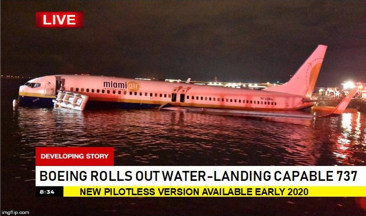 image tagged in funny,boeing,airplanes,news,fake news | made w/ Imgflip meme maker