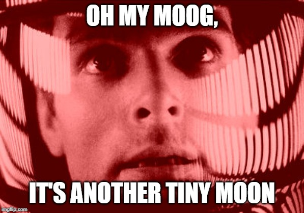 Major Tom? You Report? | OH MY MOOG, IT'S ANOTHER TINY MOON | image tagged in memes,oh my god orange | made w/ Imgflip meme maker