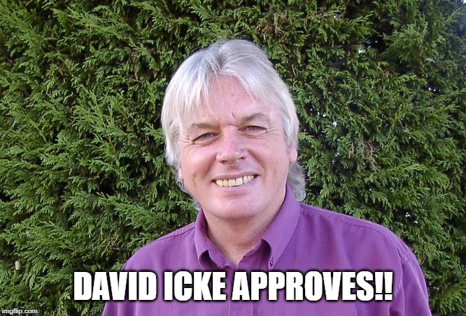 David Icke approves! | DAVID ICKE APPROVES!! | image tagged in david icke,approval | made w/ Imgflip meme maker