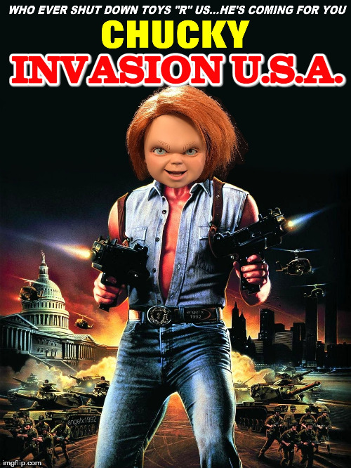 image tagged in chuck norris,chucky,toys r us,action movies,mashup,movies | made w/ Imgflip meme maker