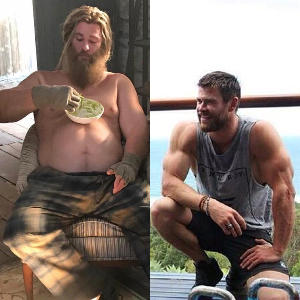 Fat Thor Vs Fit Thor Blank Template