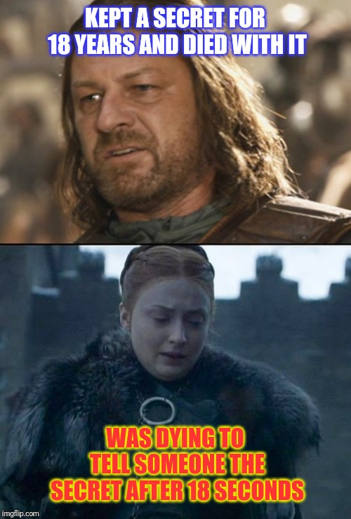 "Ned Stark vs Sansa "" Little Finger "" Stark. Secrets! 