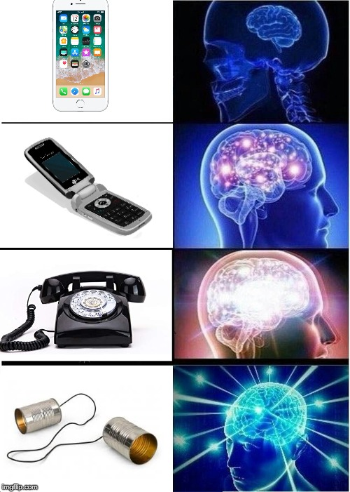 Expanding Brain Meme | image tagged in memes,expanding brain,phones,funny,evolution | made w/ Imgflip meme maker