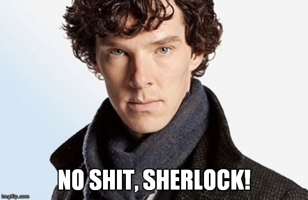 benedict cumberbatch | NO SHIT, SHERLOCK! | image tagged in benedict cumberbatch | made w/ Imgflip meme maker