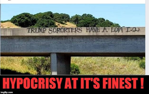 I wonder if they are vandals too? So-Porter, how r u? |  HYPOCRISY AT IT'S FINEST ! | image tagged in hypocrisy,politics,spelling,vandalism | made w/ Imgflip meme maker