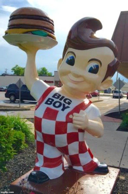 Waynedale Big Boy statue | image tagged in waynedale big boy statue | made w/ Imgflip meme maker