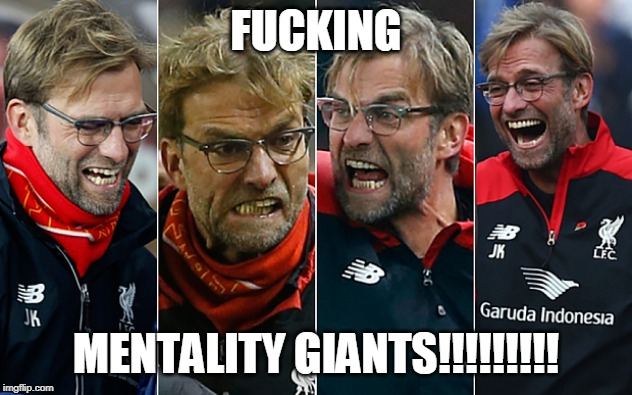 F**KING MENTALITY GIANTS!!!!!!!!! | made w/ Imgflip meme maker