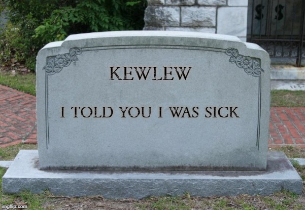 alas poor kewlew i knew him well | KEWLEW I TOLD YOU I WAS SICK | image tagged in kewlew,tombstone,silly | made w/ Imgflip meme maker