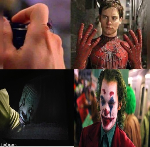 A Spider bite meme idea | image tagged in spider bite,joker,memes,funny,dc comics,supervillains | made w/ Imgflip meme maker