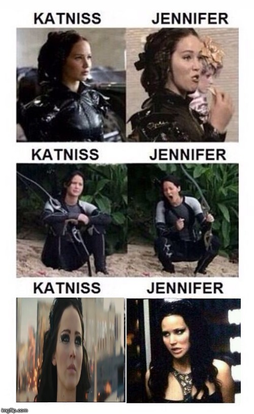 Hunger games funny | image tagged in jennifer lawrence,katniss everdeen,hunger games,funny,meme | made w/ Imgflip meme maker