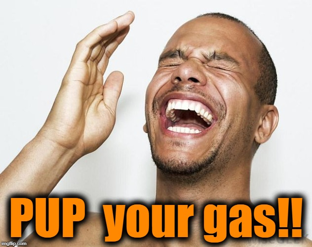 lol | PUP  your gas!! | image tagged in lol | made w/ Imgflip meme maker