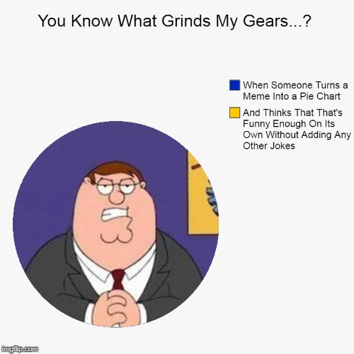 Presumably Funny Title (>‿◠) | image tagged in memes,pie charts,lol so funny,grinds my gears,peter griffin,pie chart meme | made w/ Imgflip meme maker