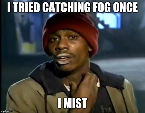 Y'all Got Any More Of That Meme | I TRIED CATCHING FOG ONCE I MIST | image tagged in memes,y'all got any more of that | made w/ Imgflip meme maker