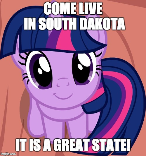 I love South Dakota so much! Just don't mind the weather! | COME LIVE IN SOUTH DAKOTA IT IS A GREAT STATE! | image tagged in twilight is interested,memes,south dakota | made w/ Imgflip meme maker