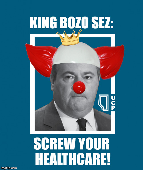 JASON KENNEY - WORKING FOR ALBERTANS | KING BOZO SEZ: SCREW YOUR HEALTHCARE! | image tagged in jason kenney - king bozo,alberta,conservative,idiot,canadian politics,political memes | made w/ Imgflip meme maker