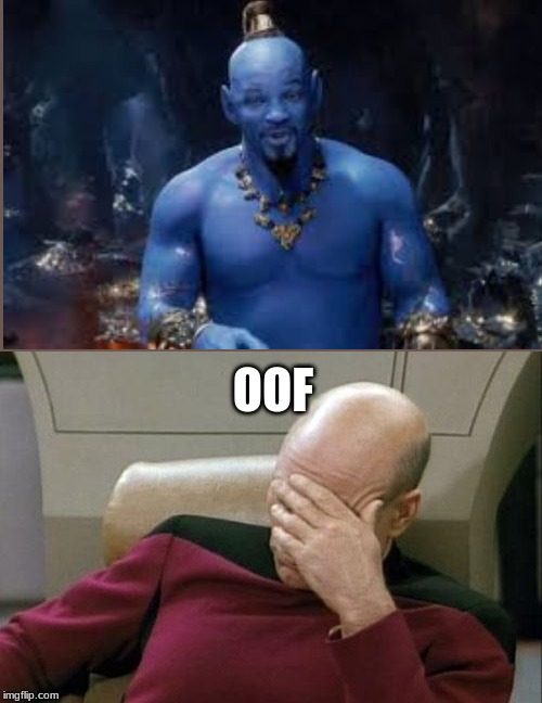 Captain Picard Facepalm Meme | OOF | image tagged in memes,captain picard facepalm | made w/ Imgflip meme maker