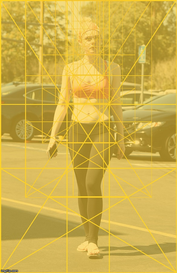 Ellie Fanning with the Golden Ratio.  100% tolerance at 62% opacity. | image tagged in the golden ratio,ellie fanning,the human body,light,spectrum,geometry | made w/ Imgflip meme maker