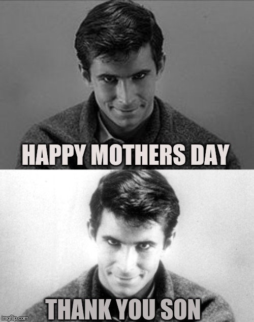 I will not forget to call my mom, I will not forget to call my mom, I will no forget to call my mom, I will not forget to call m | HAPPY MOTHERS DAY THANK YOU SON | image tagged in sewmyeyesshut,funny memes,norman bates,mothers day,funny,memes | made w/ Imgflip meme maker