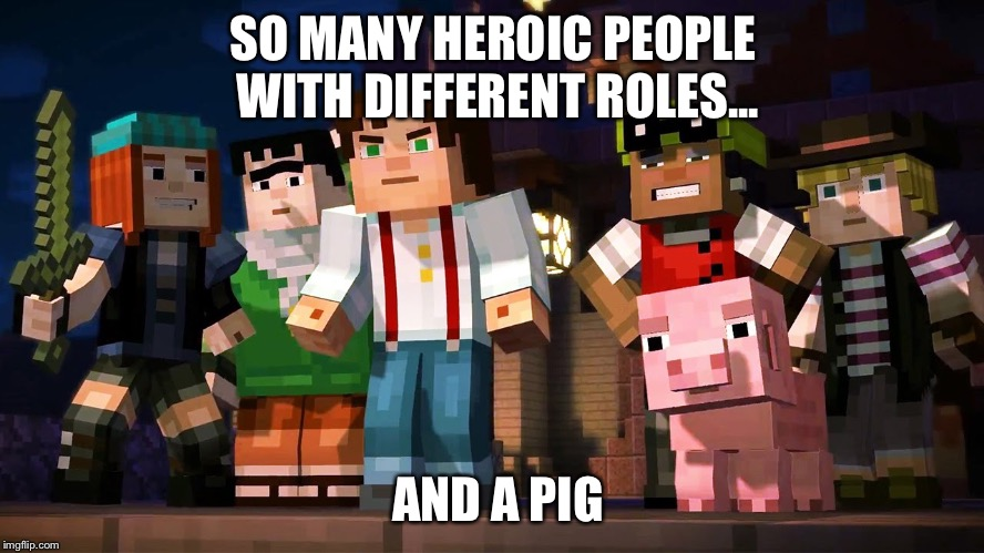Image Tagged In Minecraft Story Mode Imgflip
