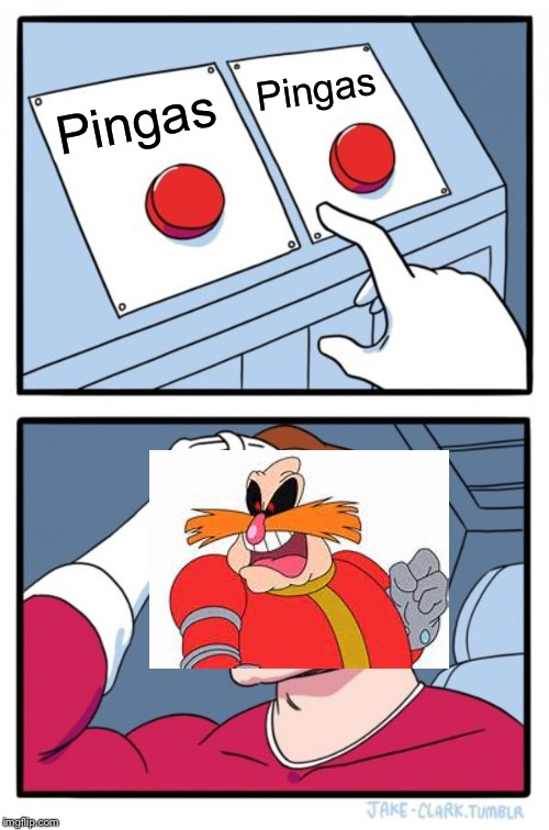 Two Buttons Meme | Pingas Pingas | image tagged in memes,two buttons | made w/ Imgflip meme maker