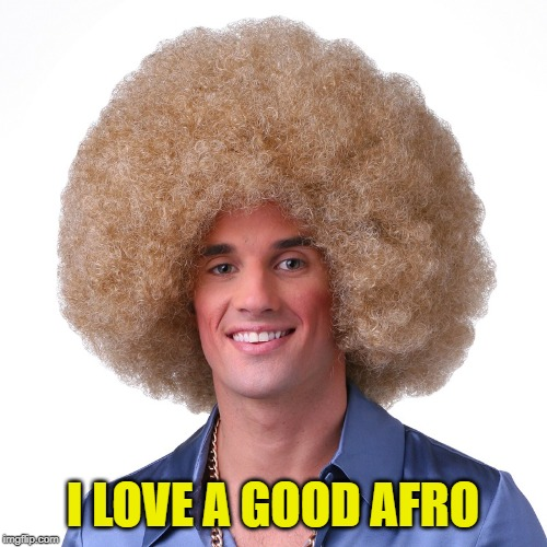 Afro 1 | I LOVE A GOOD AFRO | image tagged in afro 1 | made w/ Imgflip meme maker