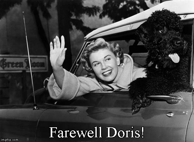 You Cheered Us Up ! | Farewell Doris! | image tagged in memes,doris day,rip | made w/ Imgflip meme maker