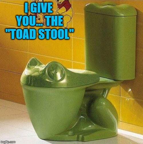"I hope it doesn't have a tongue!!! | I GIVE YOU... THE ""TOAD STOOL"" 