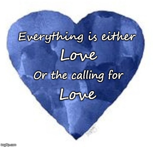 Everything is either Love Or the calling for Love | image tagged in love,compassion,love wins | made w/ Imgflip meme maker