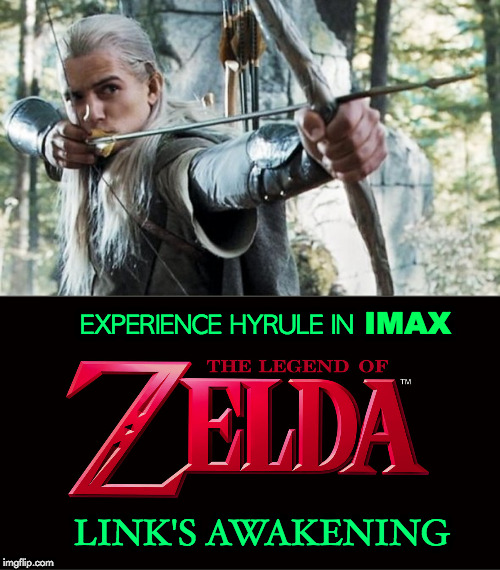 live action Link | IMAX EXPERIENCE HYRULE IN LINK'S AWAKENING | image tagged in the legend of zelda | made w/ Imgflip meme maker