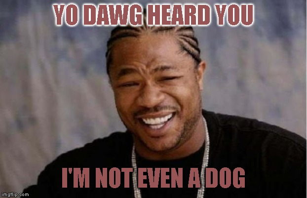 We can see | YO DAWG HEARD YOU I'M NOT EVEN A DOG | image tagged in memes,yo dawg heard you | made w/ Imgflip meme maker