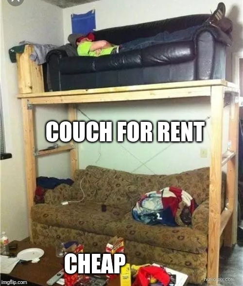COUCH FOR RENT CHEAP | made w/ Imgflip meme maker