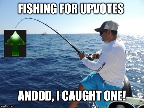 Fishing week May 13th-May 20th A Yeetboi21dedmemes event | FISHING FOR UPVOTES ANDDD, I CAUGHT ONE! | image tagged in fishing,fishing for upvotes,fishing week | made w/ Imgflip meme maker