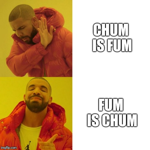 Drake Blank | CHUM IS FUM FUM IS CHUM | image tagged in drake blank | made w/ Imgflip meme maker