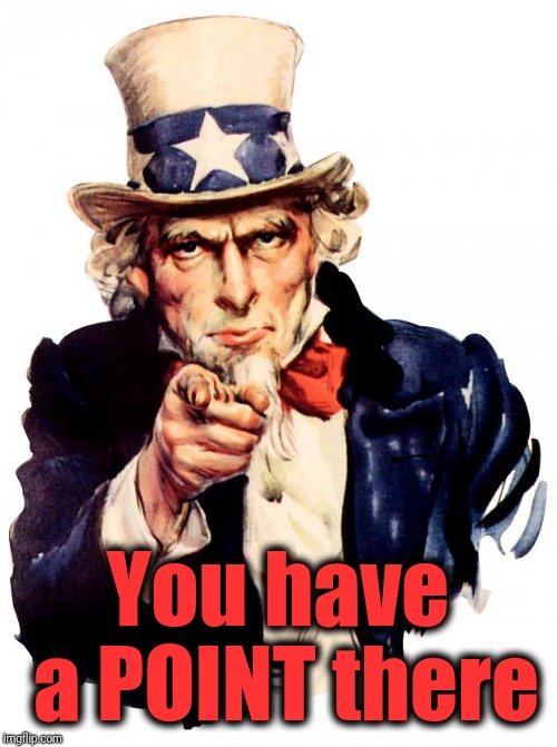 Uncle Sam Meme | You have a POINT there | image tagged in memes,uncle sam | made w/ Imgflip meme maker