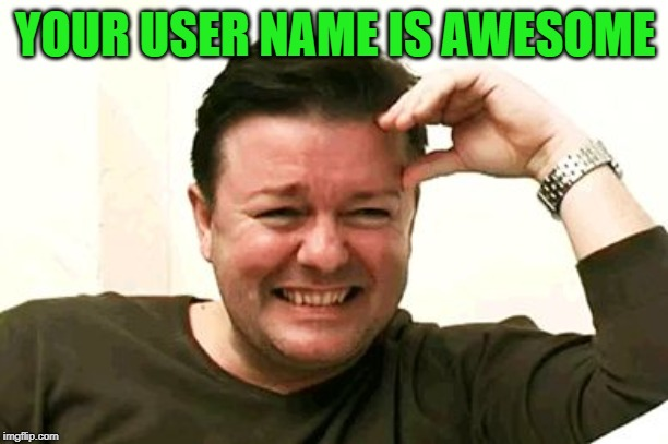 laughing | YOUR USER NAME IS AWESOME | image tagged in laughing | made w/ Imgflip meme maker