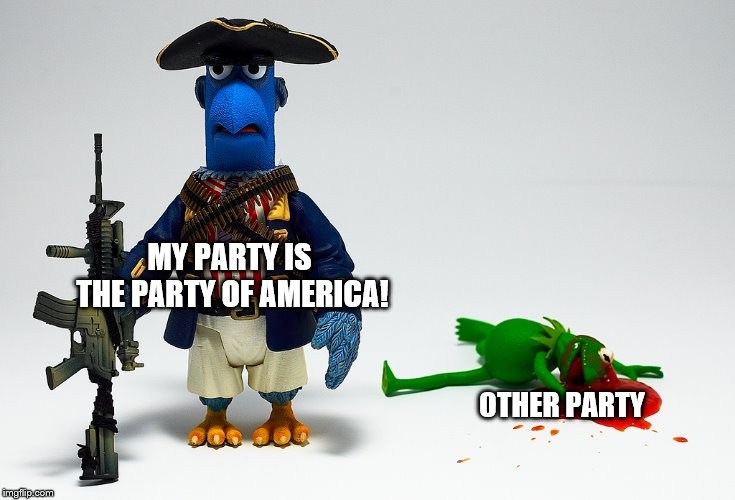 MY PARTY IS THE PARTY OF AMERICA! OTHER PARTY | made w/ Imgflip meme maker
