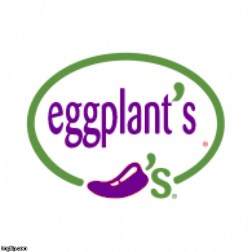 favorite place to eat | image tagged in chili,eggplant,logo,remix | made w/ Imgflip meme maker