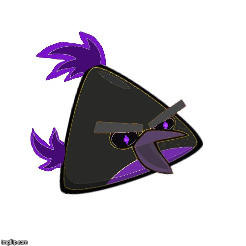 Nightshade, my new Angry Birds OC. | image tagged in ocs,angry birds | made w/ Imgflip meme maker