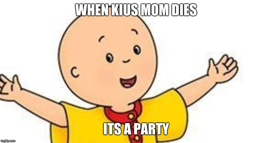 WHEN KIUS MOM DIES ITS A PARTY | image tagged in adele hello | made w/ Imgflip meme maker