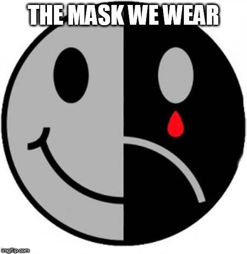 Sad Face With Smiling Mask Meme