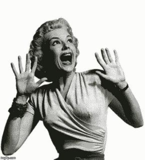 Retro Screaming Woman | image tagged in retro screaming woman | made w/ Imgflip meme maker