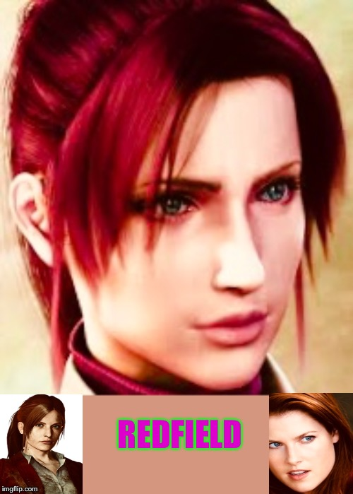 Redfield | REDFIELD | image tagged in video games,characters | made w/ Imgflip meme maker