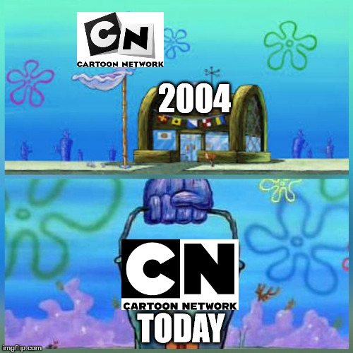 Krusty Krab Vs Chum Bucket | 2004 TODAY | image tagged in memes,krusty krab vs chum bucket | made w/ Imgflip meme maker