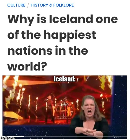 image tagged in eurovision,iceland | made w/ Imgflip meme maker