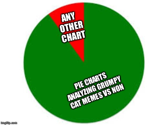 pie chart | PIE CHARTS ANALYZING GRUMPY CAT MEMES VS NON ANY OTHER CHART | image tagged in pie chart | made w/ Imgflip meme maker