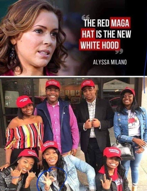 More racist Trump supporters wearing their racist hats.... | . | image tagged in maga | made w/ Imgflip meme maker